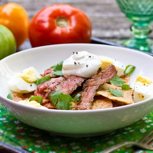 Chilaquiles with Steak